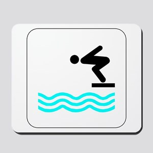 Diving Icon Mousepad