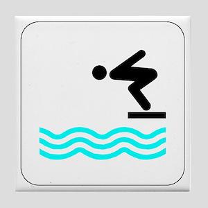 Diving Icon Tile Coaster
