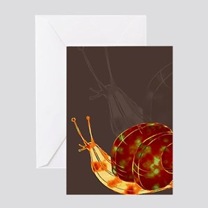Snail Katatsumuri Greeting Card