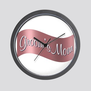Groom's Mom (flag) Wall Clock