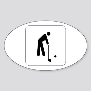 Golf Icon Oval Sticker