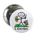 """BusyBodies Gardening 2.25"""" Button (100 pack)"""