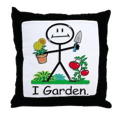BusyBodies Gardening Throw Pillow