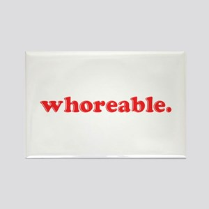 Whoreable Rectangle Magnet