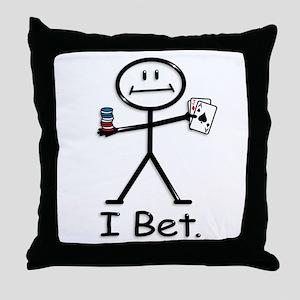 BusyBodies card gambling Throw Pillow