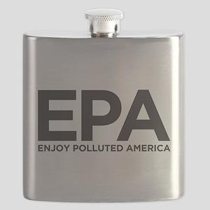 Enjoy Polluted America Flask
