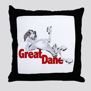 Harlequin Great Dane LBUC Throw Pillow