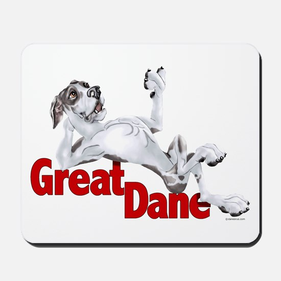 Harlequin Great Dane LBUC Mousepad