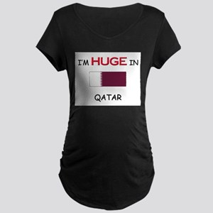 I'd HUGE In QATAR Maternity Dark T-Shirt