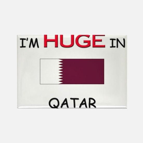 I'd HUGE In QATAR Rectangle Magnet