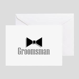 Groomsman (Black Bow Tie) Greeting Card