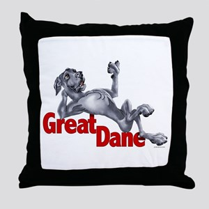 Blue Great Dane LBUC Throw Pillow