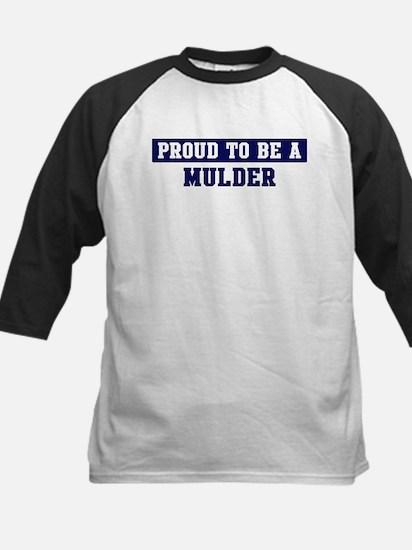 Proud to be Mulder Kids Baseball Jersey