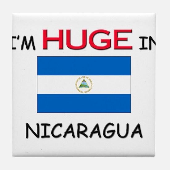 I'd HUGE In NICARAGUA Tile Coaster