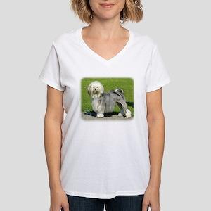 Lhasa Apso 8K61D-18 Women's V-Neck T-Shirt