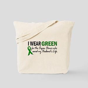 I Wear Green 2 (Husband's Life) Tote Bag