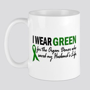 I Wear Green 2 (Husband's Life) Mug