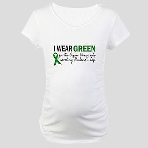 I Wear Green 2 (Husband's Life) Maternity T-Shirt