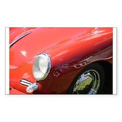 The Little Red Porsche Rectangle Decal