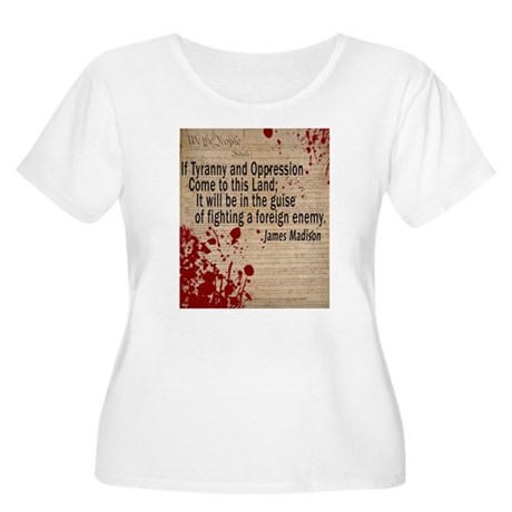 Blood on the Constitution Women's Plus Size Scoop