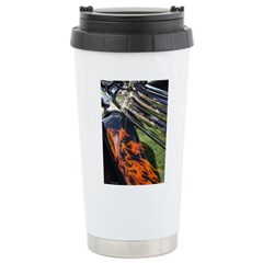 Fire and Chrome Stainless Steel Travel Mug