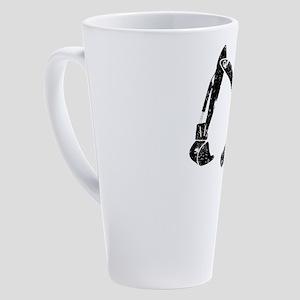 Digger Construction Funny Cute Bac 17 oz Latte Mug