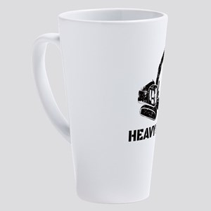 Heavy Metal Digger Funny Cute Back 17 oz Latte Mug