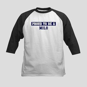 Proud to be Milo Kids Baseball Jersey