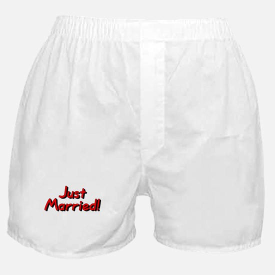 Just Married! (Red) Boxer Shorts