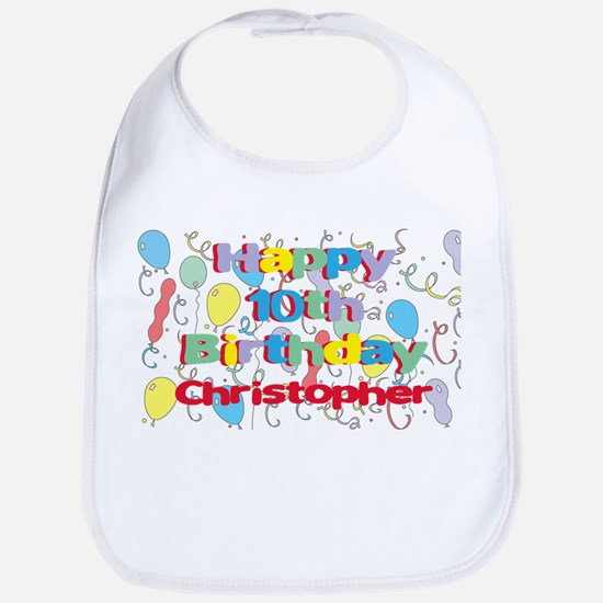 Christopher's 10th Birthday Bib
