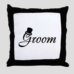 Groom (Top Hat) Throw Pillow
