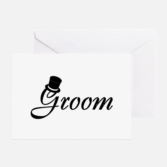 Groom (Top Hat) Greeting Card