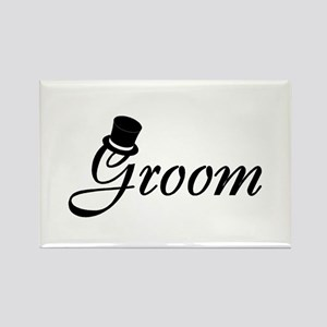 Groom (Top Hat) Rectangle Magnet
