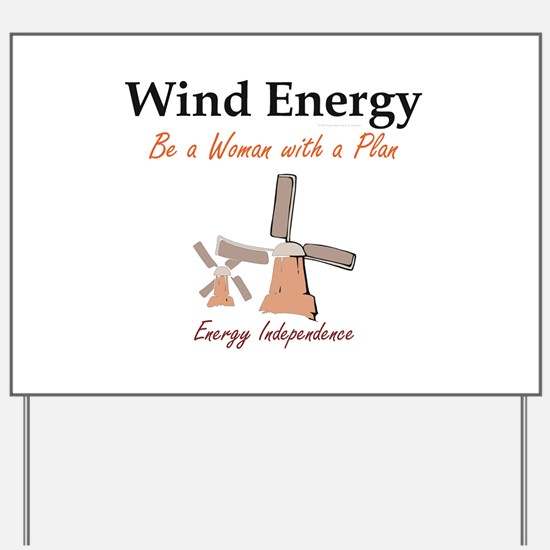 Wind Energy Yard Sign