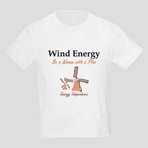 Wind Energy Kids Light T-Shirt