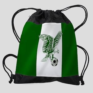 Nigerian Football Flag Drawstring Bag