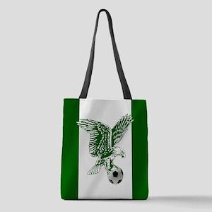 Nigerian Football Flag Polyester Tote Bag