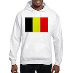 Large Belgian Flag Hooded Sweatshirt