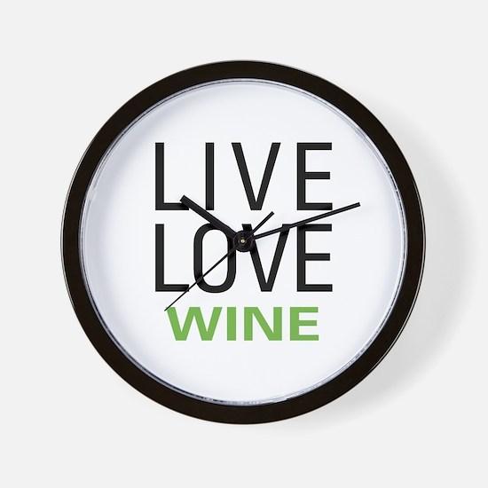 Live Love Wine Wall Clock
