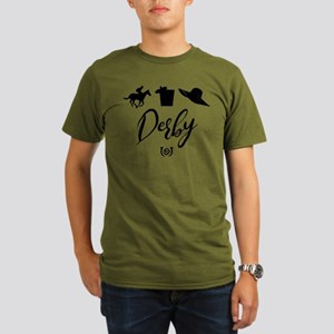 Kentucky Derby Icons Organic Men's T-Shirt (dark)