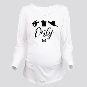 Kentucky Derby Icons Long Sleeve Maternity T-Shirt