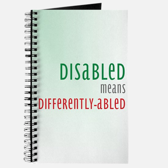 Disability Awareness Notebook Journal