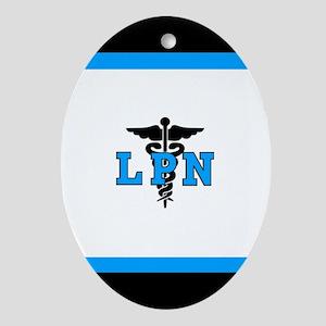 LPN Medical Symbol Ornament (Oval)