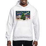 XmasMagic/2 Scotties (P3) Hooded Sweatshirt