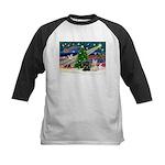 XmasMagic/2 Scotties (P3) Kids Baseball Jersey