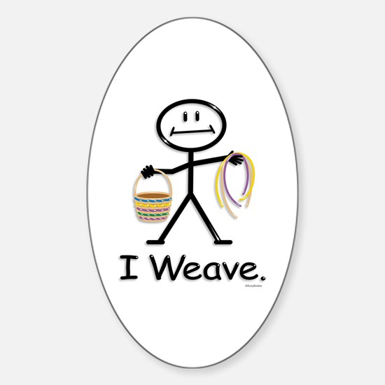 BusyBodies Basket Weaving Oval Decal