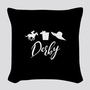Kentucky Derby Icons Woven Throw Pillow