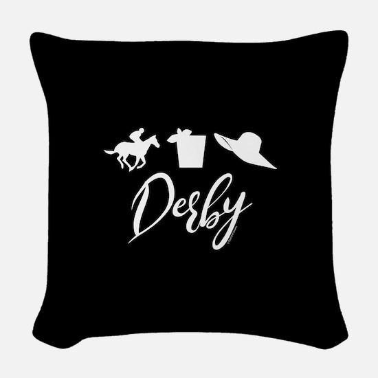 Kentucky Derby Icons Woven Throw Pillow