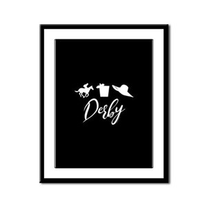 Kentucky Derby Icons Framed Panel Print