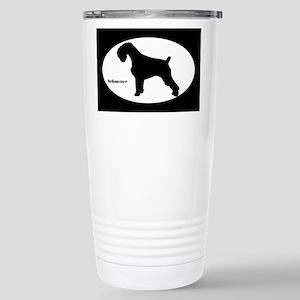 Schnauzer Silhouette Stainless Steel Travel Mug